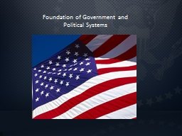 Foundation of Government and