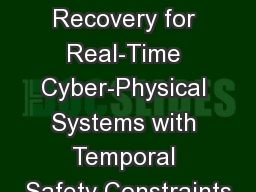 Reset-Based Recovery for Real-Time Cyber-Physical Systems with Temporal Safety Constraints