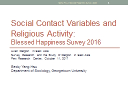 Social Contact Variables and