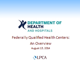 Federally Qualified Health Centers: