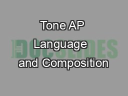 Tone AP Language  and Composition