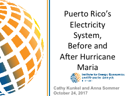 Puerto Rico's Electricity System, PowerPoint PPT Presentation
