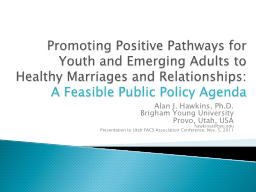 Promoting Positive Pathways for Youth and Emerging Adults to