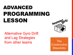 ADVANCED  PROGRAMMING Lesson PowerPoint PPT Presentation