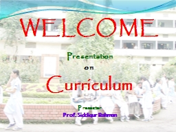 WELCOME Presentation  on