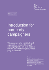 Introduction for non party campaigners This document i