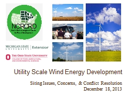 Utility Scale Wind Energy