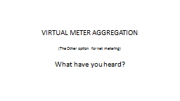 VIRTUAL METER AGGREGATION