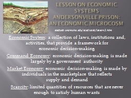 LESSON ON ECONOMIC SYSTEMS