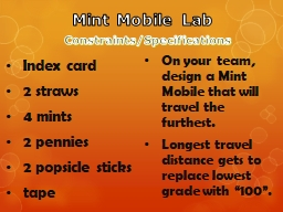 Mint Mobile Lab  Index card