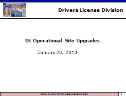 DL Operational Site Upgrades