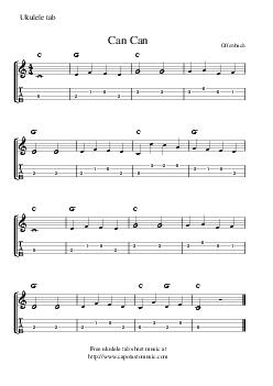Offenbach Free ukulele tab sheet music at httpwww