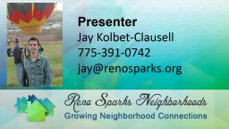 Presenter Jay Kolbet-Clausell