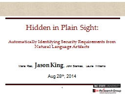 Hidden in Plain Sight:  Automatically Identifying Security Requirements from Natural Language Artif