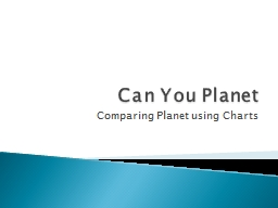 Can You Planet Comparing Planet using Charts