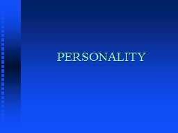 PERSONALITY Classification of Personality Tests