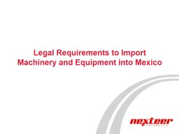 Legal Requirements to Import