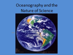 Oceanography and the Nature of Science