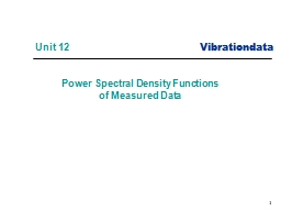 1 Power Spectral Density Functions