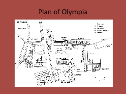 Plan of Olympia Altars Temple and