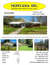 $250,000 Awesome Property!  2 fenced garden areas, outbuildings, nice home with rock fireplace.