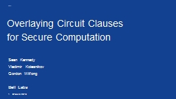 Overlaying Circuit  Clauses PowerPoint PPT Presentation