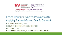 From Power Over to Power With: