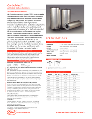 Carbomax activated carbon canisters