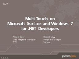 Multi-Touch on  Microsoft Surface and Windows 7
