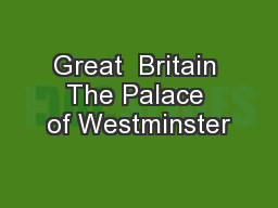 Great  Britain The Palace of Westminster