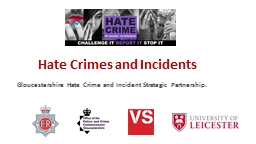 Hate  Crime s and Incidents