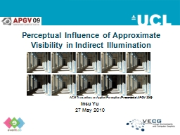 Perceptual Influence of Approximate Visibility in Indirect Illumination