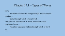 Chapter  15.1  –  Types of Waves