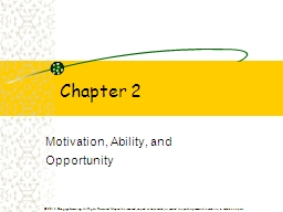 Chapter 2 Motivation, Ability, and