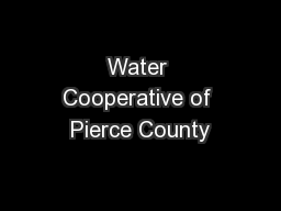 Water Cooperative of Pierce County
