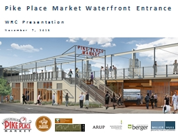 Pike Place Market Waterfront Entrance