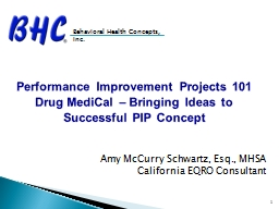 Performance Improvement Projects 101