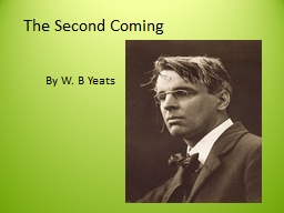 The Second Coming By W. B Yeats