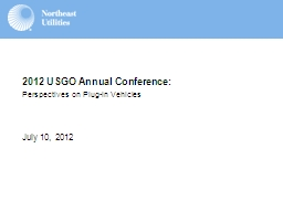 July 10,  2012 2012 USGO Annual Conference: