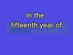 In the fifteenth year of