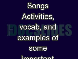 Poetic Devices in Songs Activities, vocab, and examples of some important common elements