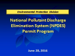 National  Pollutant  Discharge Elimination System (NPDES) Permit