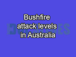 Bushfire attack levels in Australia