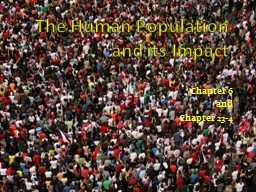 The Human Population and its Impact PowerPoint PPT Presentation