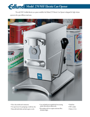 The only NSF Certied electric can opener available the