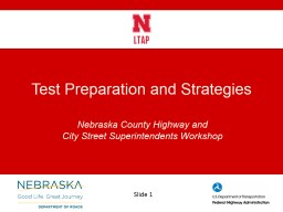 Test Preparation and Strategies