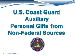 U.S. Coast Guard Auxiliary PowerPoint PPT Presentation