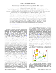 Superexchange induced canted ferromagnetism in dilute