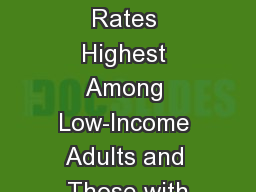 Underinsured Rates Highest Among Low-Income Adults and Those with