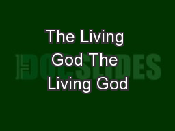 The Living God The Living God